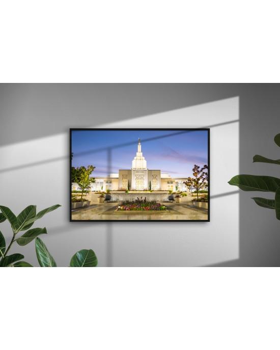 Meditation - Idaho Falls Temple (30 x 20 Framed Print)