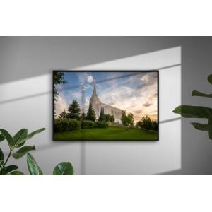 Ponder - Rexburg Idaho Temple (30 x 20 Framed Print)
