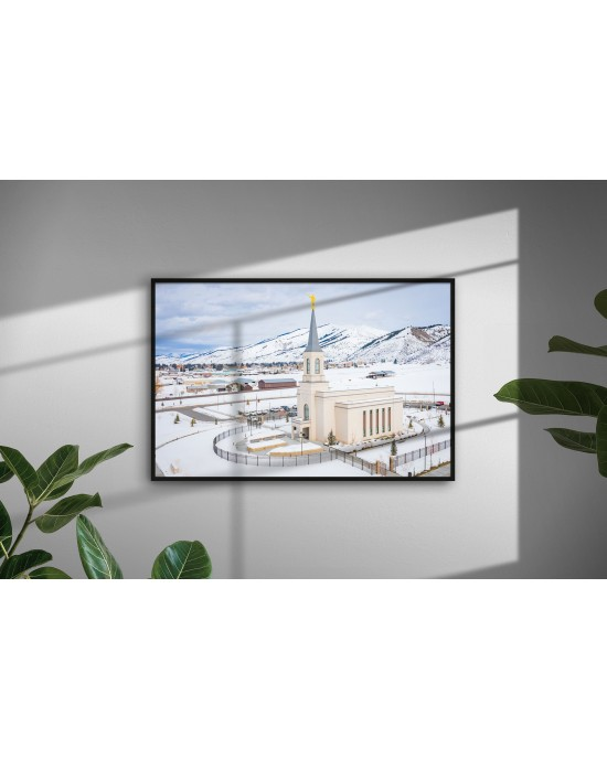 Winter #1 - Swan Valley Temple (30 x 20 Framed Print)